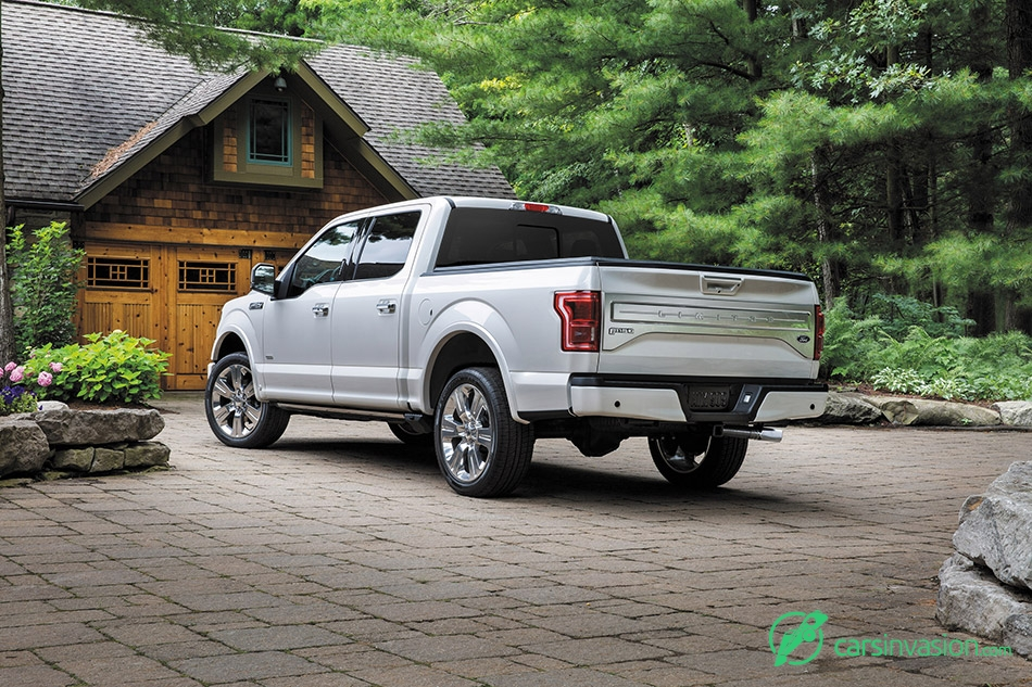 2016 Ford F-150 Limited Rear Angle