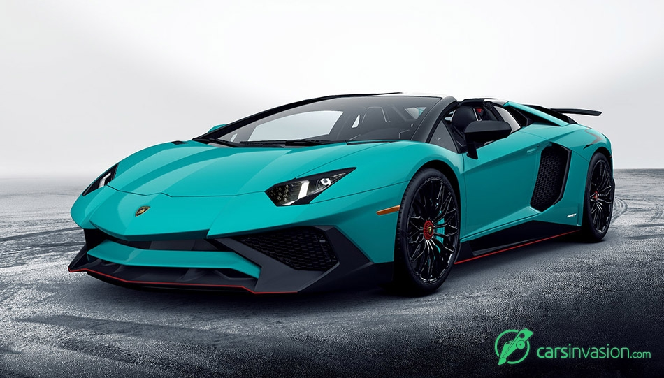 2017 Lamborghini Aventador SuperVeloce Roadster Front Angle