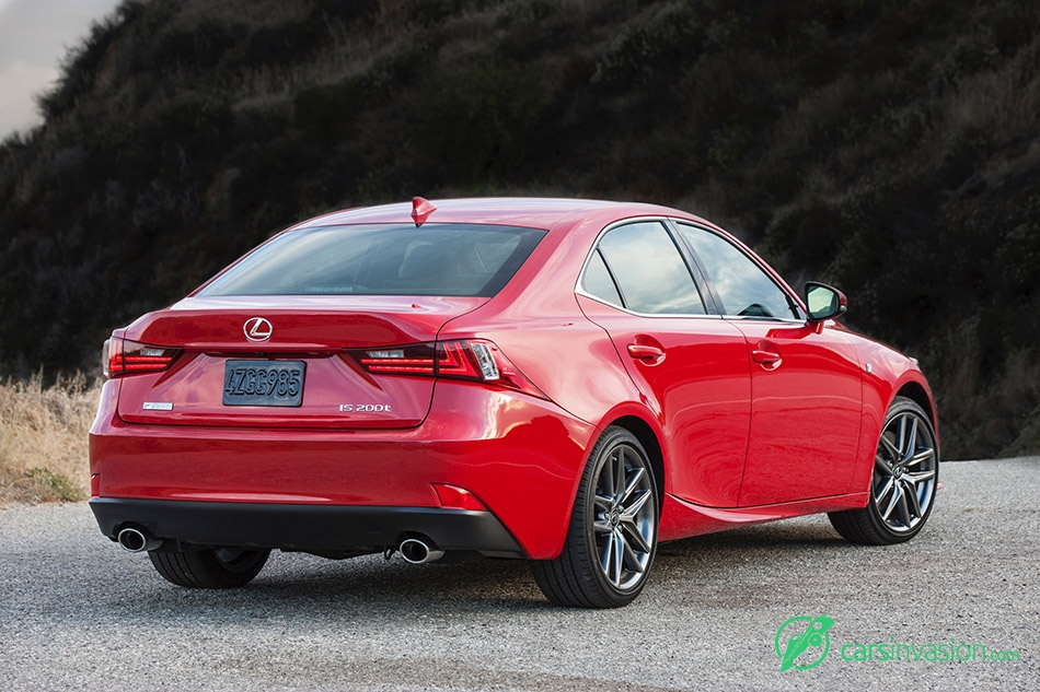 2016 Lexus IS F-Sport Rear Angle