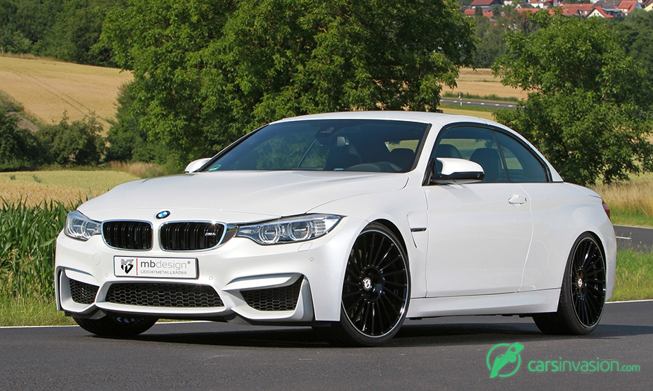 2015 mbDESIGN BMW M4 Convertible VENTi-R Front Angle