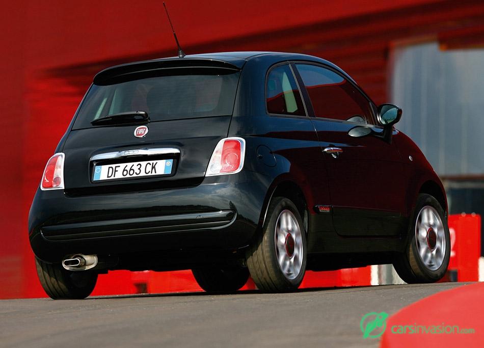 2008 Fiat 500 Rear Angle
