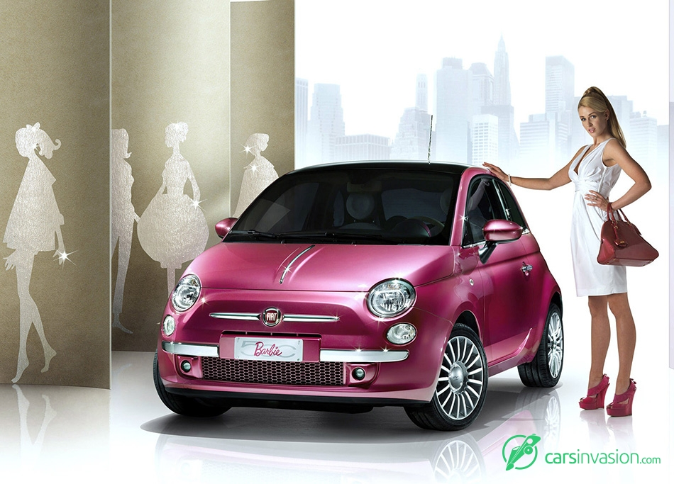 2009 Fiat 500 Barbie Concept Front Angle