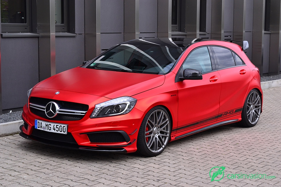 2015 Folien Experte Mercedes-Benz A45 AMG Front Angle