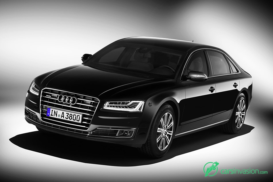2016 Audi A8 L Security Front Angle