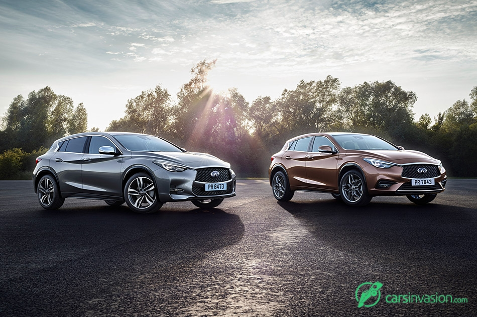2016 Infiniti Q30 Front Two Color Variants