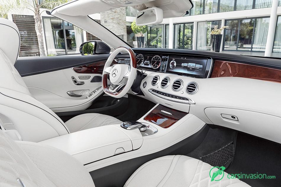 2017 Mercedes-Benz S-Class Cabriolet White Interior