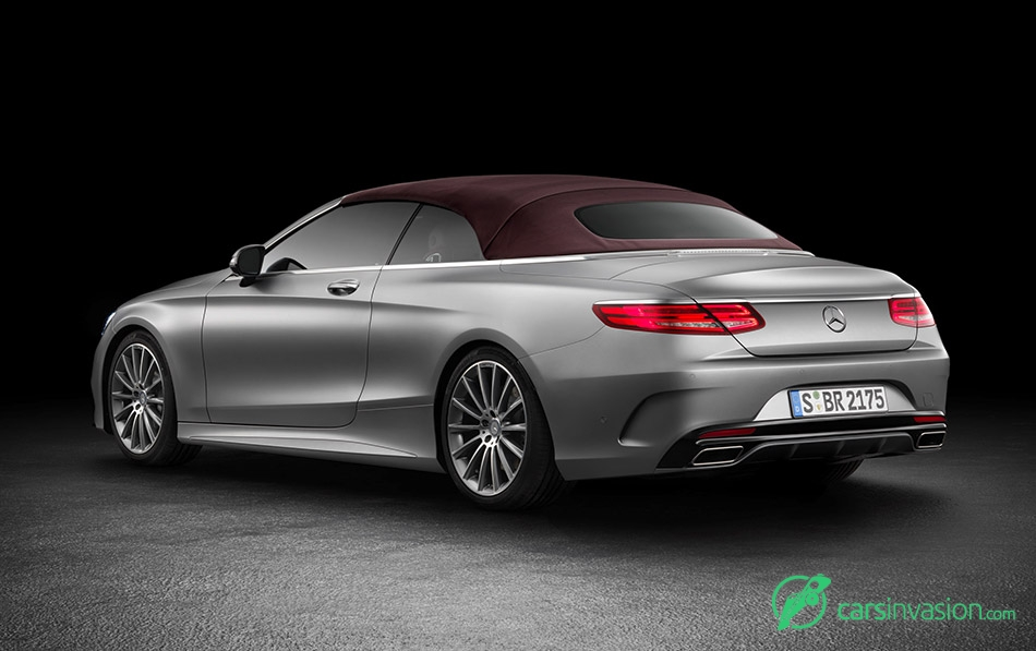 2017 Mercedes-Benz S-Class Cabriolet Rear Angle