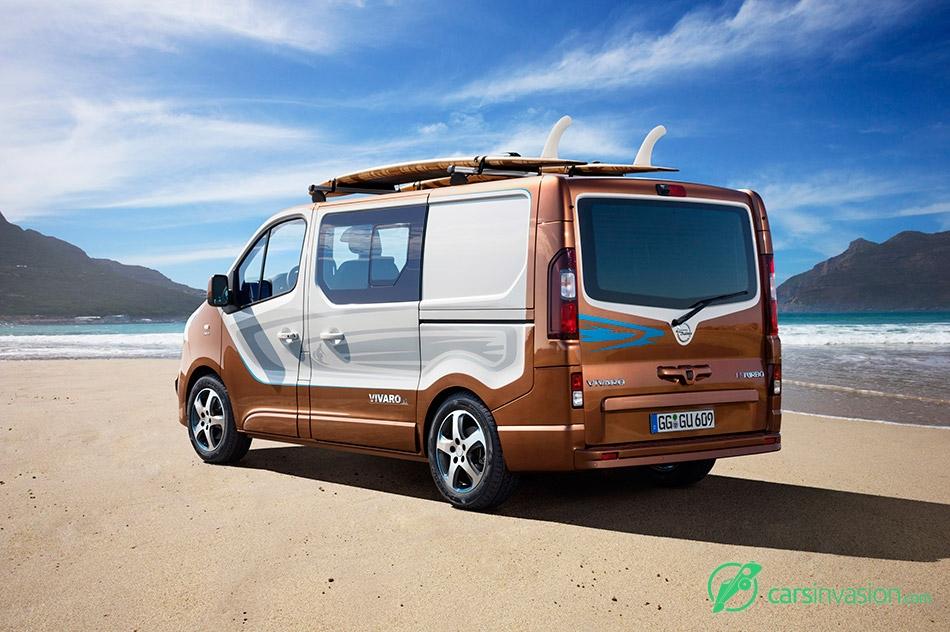 2015 Opel Vivaro Surf Concept Rear Angle