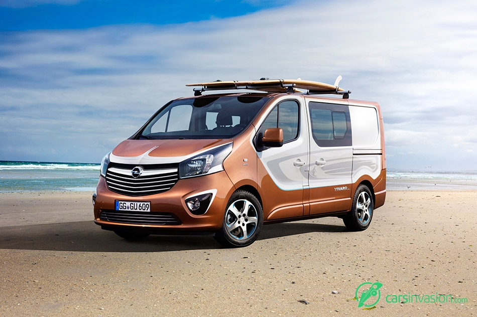 2015 Opel Vivaro Surf Concept Front Angle