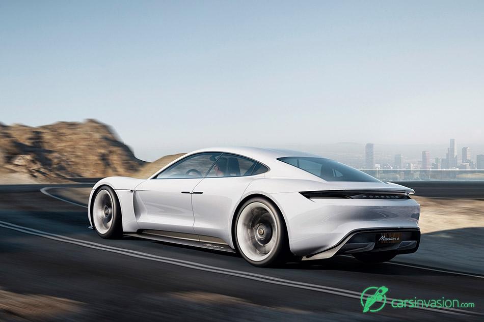 2015 Porsche Mission E Concept Rear Angle