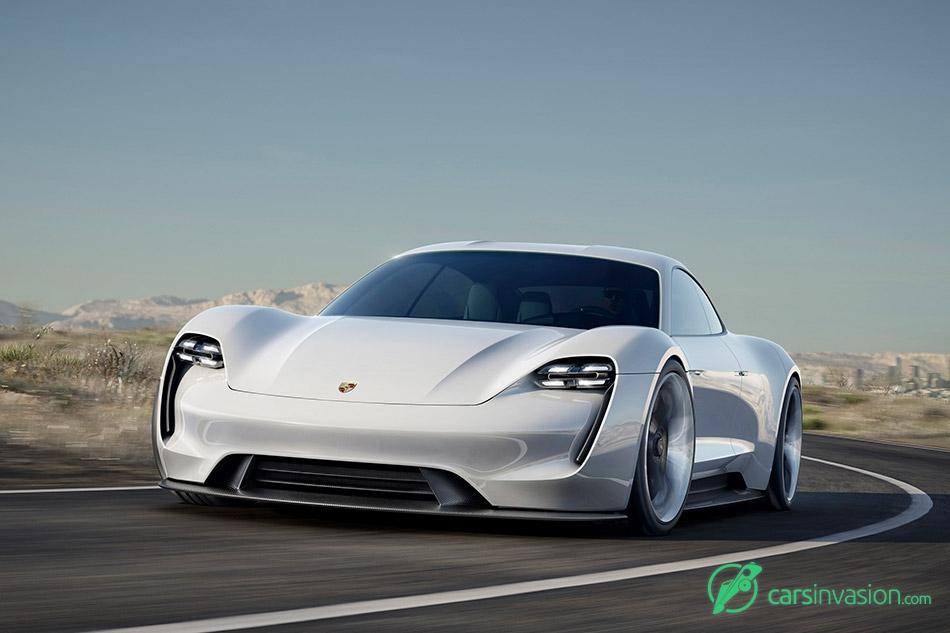 2015 Porsche Mission E Concept Front Angle