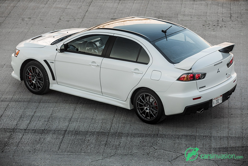 2015 Mitsubishi Lancer Evolution Final Edition Rear Angle