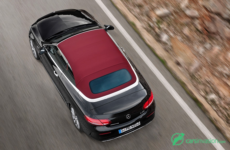 2016 Mercedes-AMG C43 4MATIC Cabriolet Rear Top